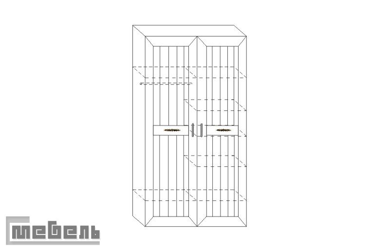 """Шкаф для белья и платья ИД 01.61, спальня """"Соната"""""""