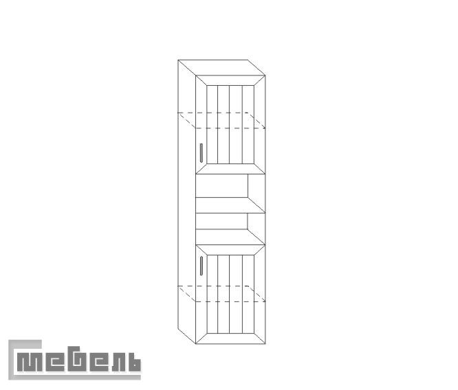 "Шкаф для книг ИД 01.14, спальня ""Соната"""
