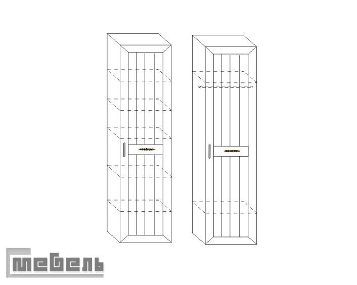 """Шкаф для белья и платья ИД 01.07, спальня """"Соната"""""""