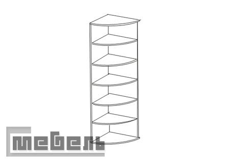 """Шкаф для книг (стеллаж) ИД 01.15, спальня """"Соната"""""""