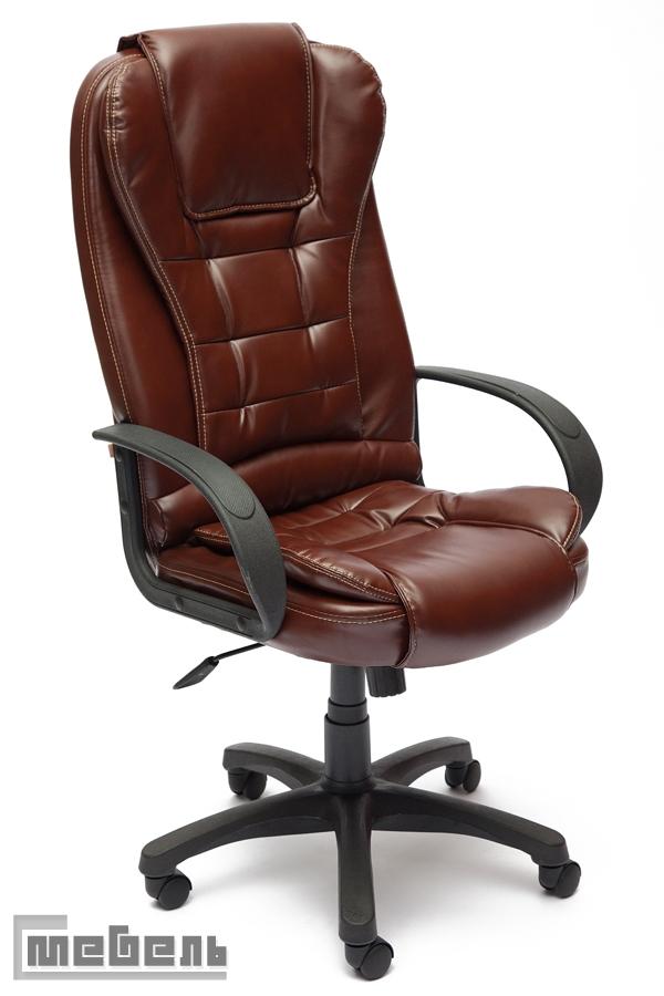 """Кресло для руководителя """"Барон СТ"""" (BARON ST) Кожзам коричневый """"2 Tone"""""""