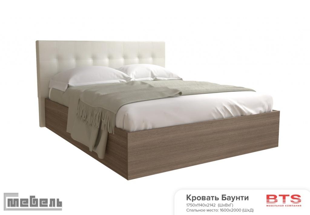 """Кровать двуспальная с подъёмным механизмом """"Баунти"""" (1600 х 2000 мм.)"""