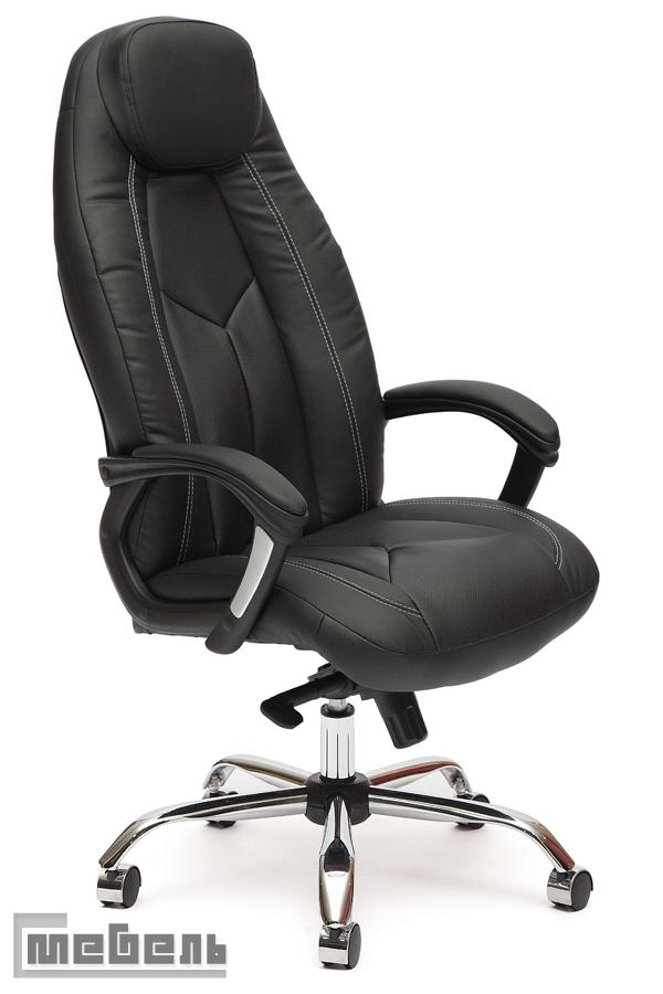 """Кресло для руководителя """"Босс Люкс"""" (Boss) Кожзам чёрный"""