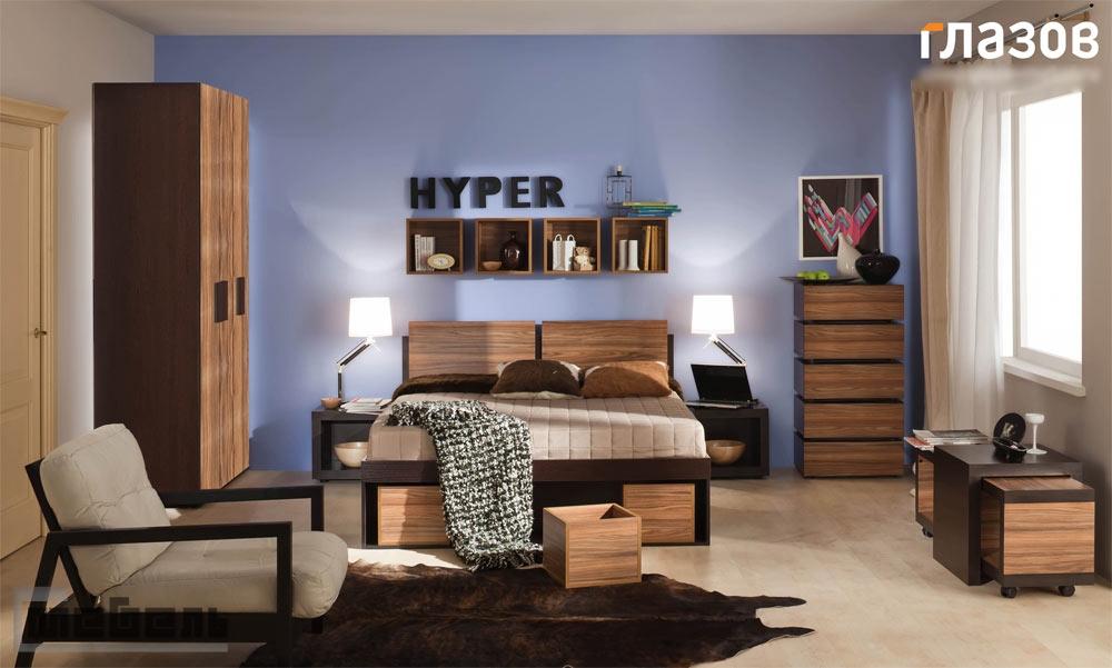 """Спальня """"Hyper"""" (Хайпер) модульная - Комплектация № 1"""