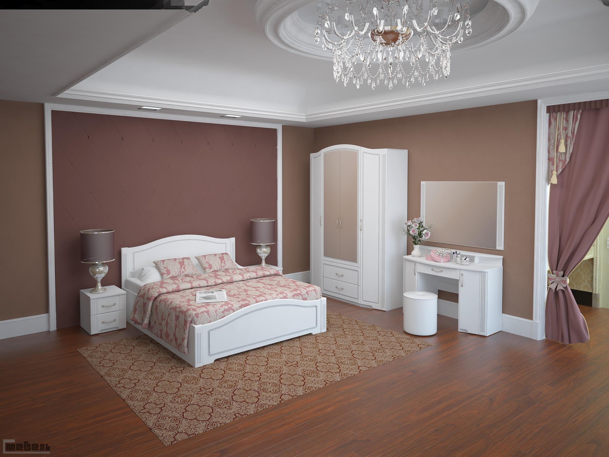 """Спальня """"Виктория"""" (модульная) - Комплектация №3"""
