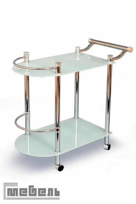 """Сервировочный столик на колёсиках """"SC 5038 CG"""" (Стекло)"""