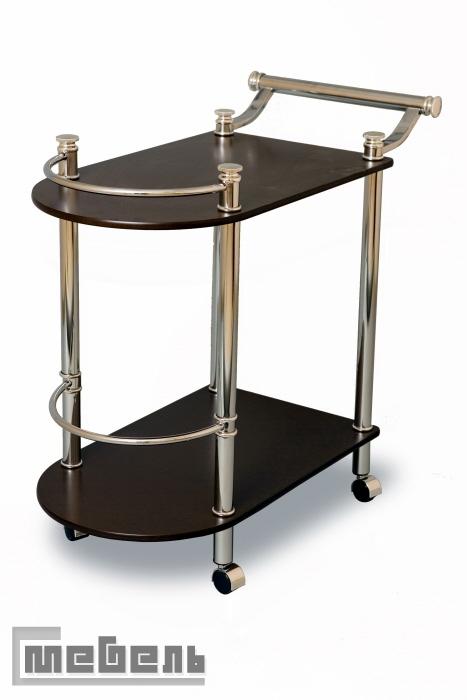 """Сервировочный столик на колёсиках """"SC 5038-WD-W"""" (Орех)"""