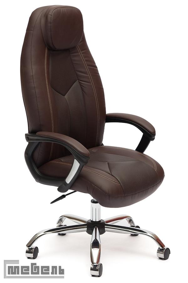 """Кресло для руководителя """"Босс"""" (Boss) Кожзам коричневый"""
