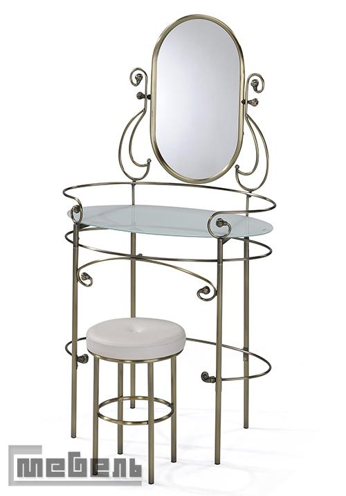 """Туалетный стол с зеркалом и пуфом """"Альберт"""""""