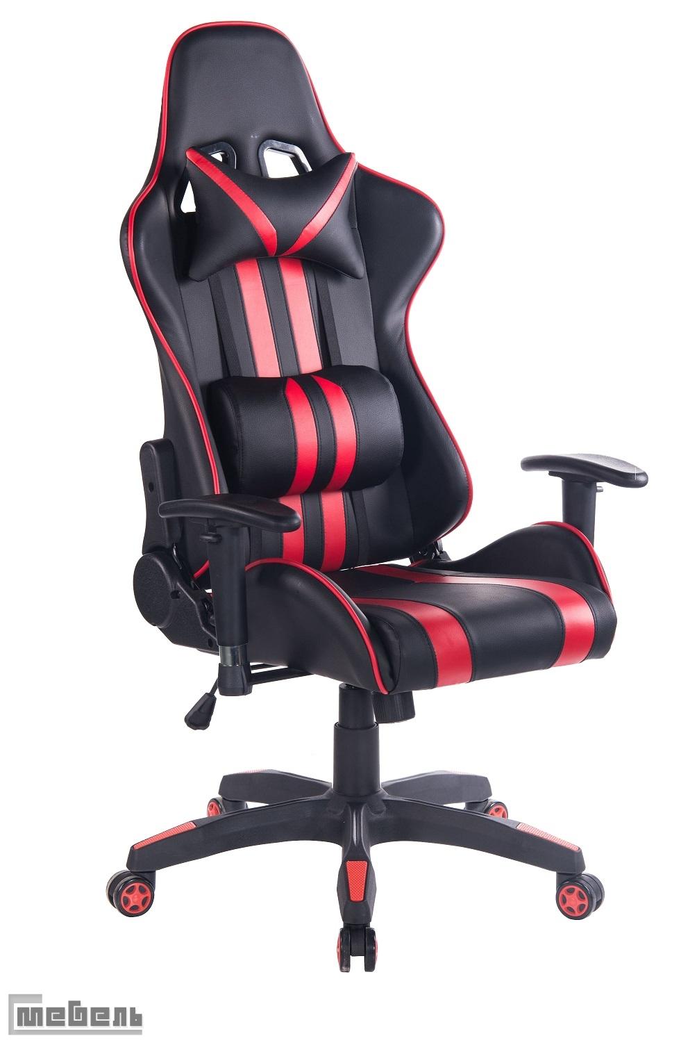 """Компьютерное кресло """"Икар"""" (Ikar) Кожзам чёрный/красный"""