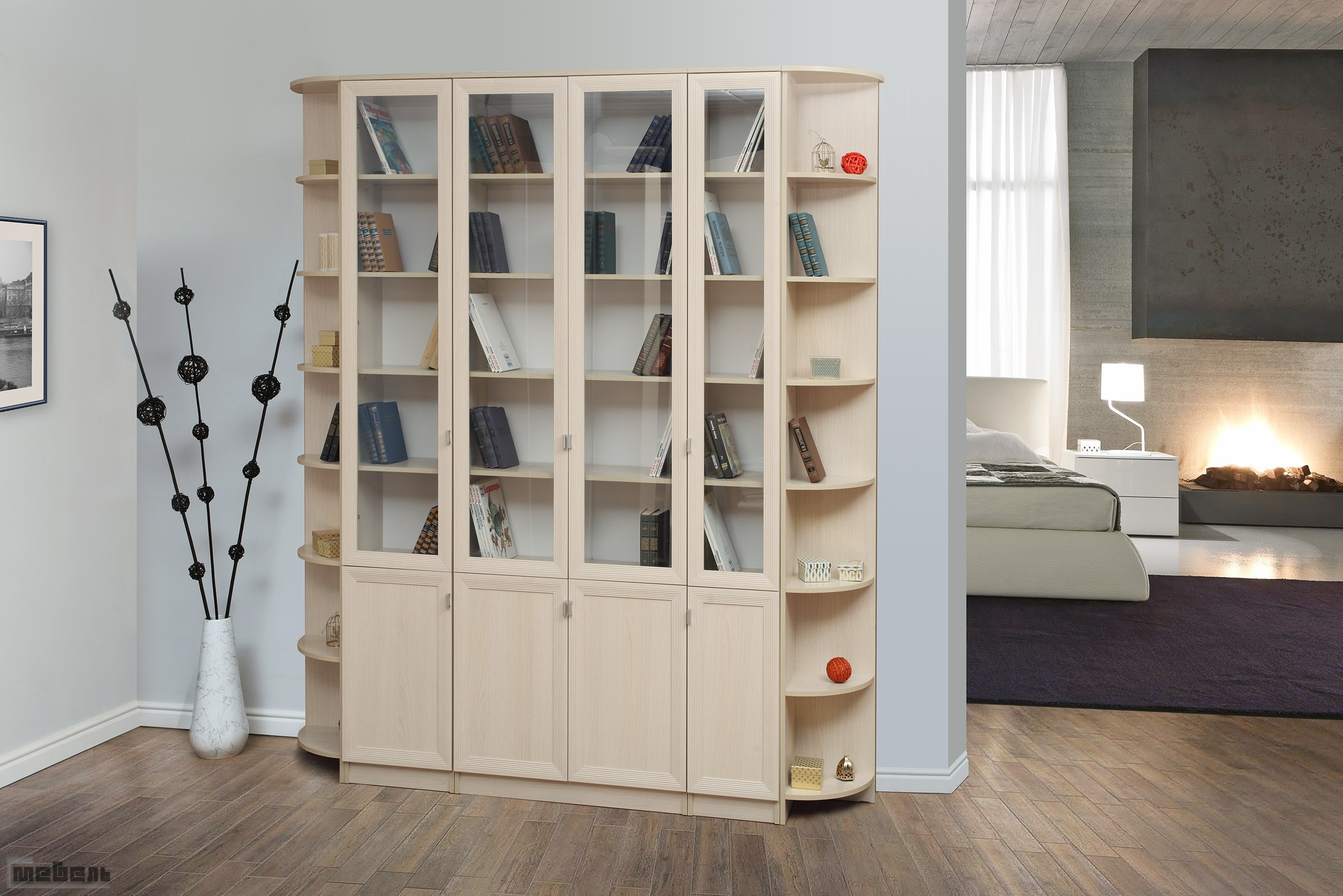 Книжные шкафы-библиотеки.