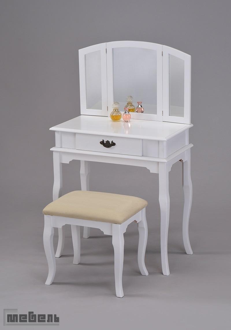 """Туалетный столик с пуфиком """"VC-0003-WT"""" (Белый)"""
