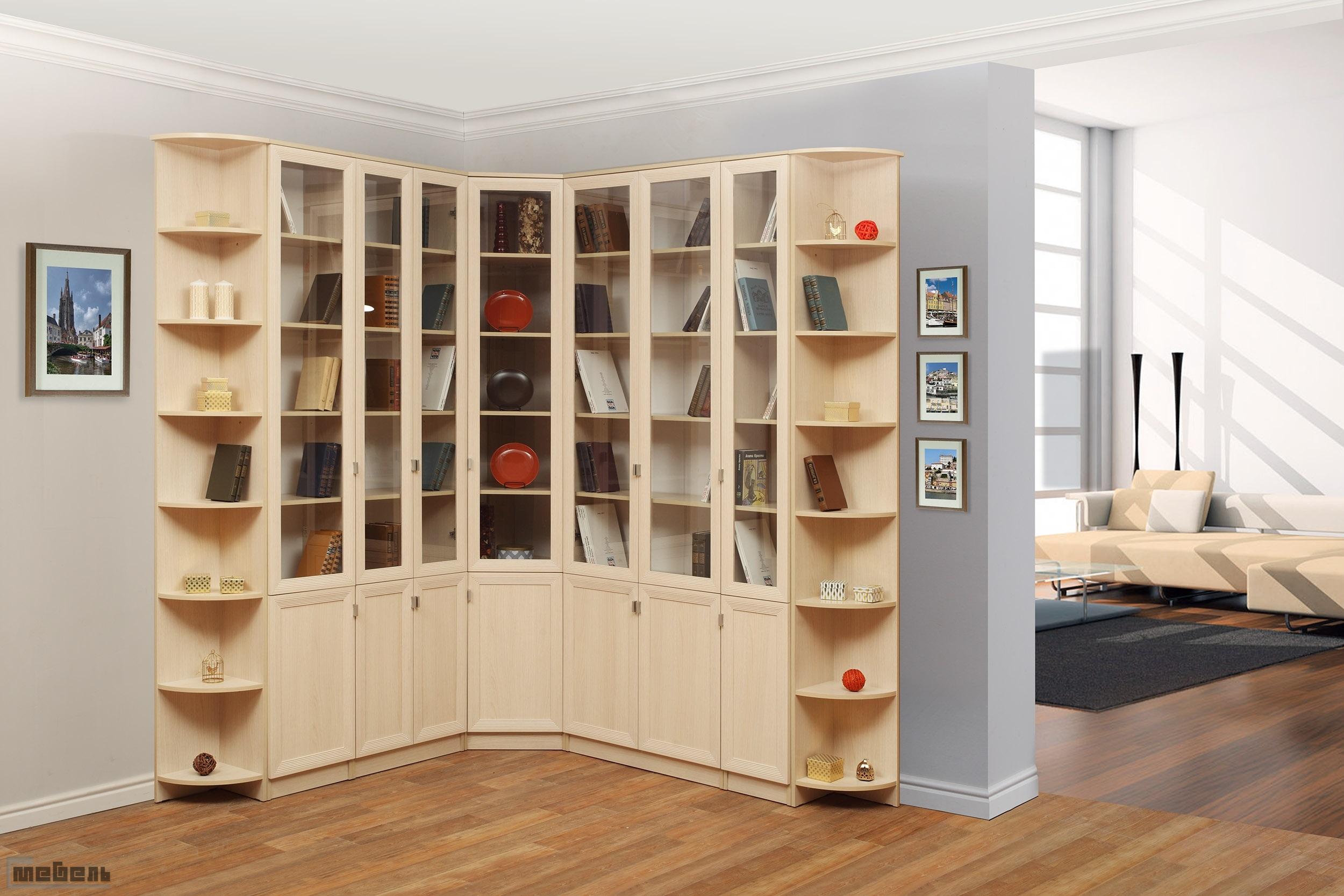 """Библиотека """"олимп"""" (модульная) - комплектация 2 с-мебель."""