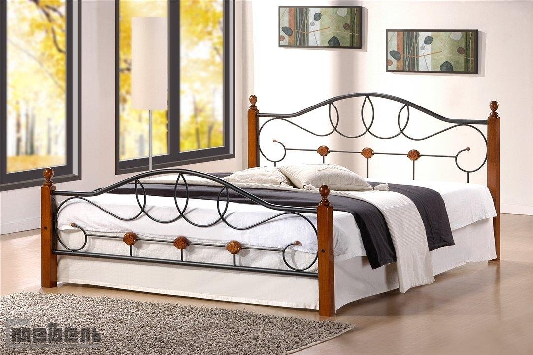 """Кровать двуспальная """"822"""" (Hava-1400 х 2000 мм.) Тёмный орех"""
