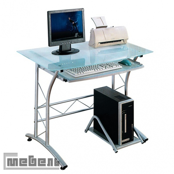 "Компьютерный стол ""ST-F-1018"" (стекло матовое, каркас серый)"