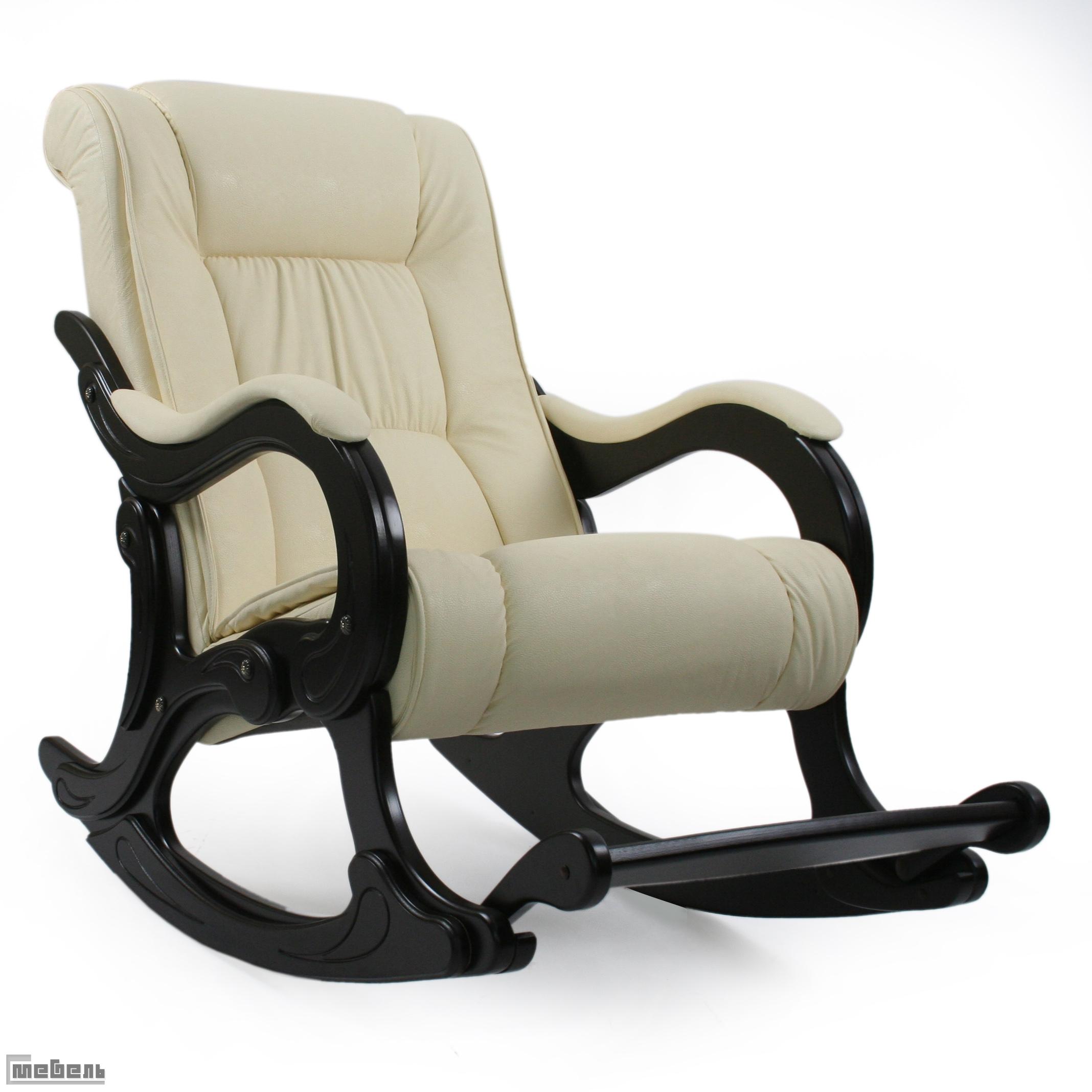 Кресло-качалка, модель 77 (013.0077), эко кожа Дунди 112