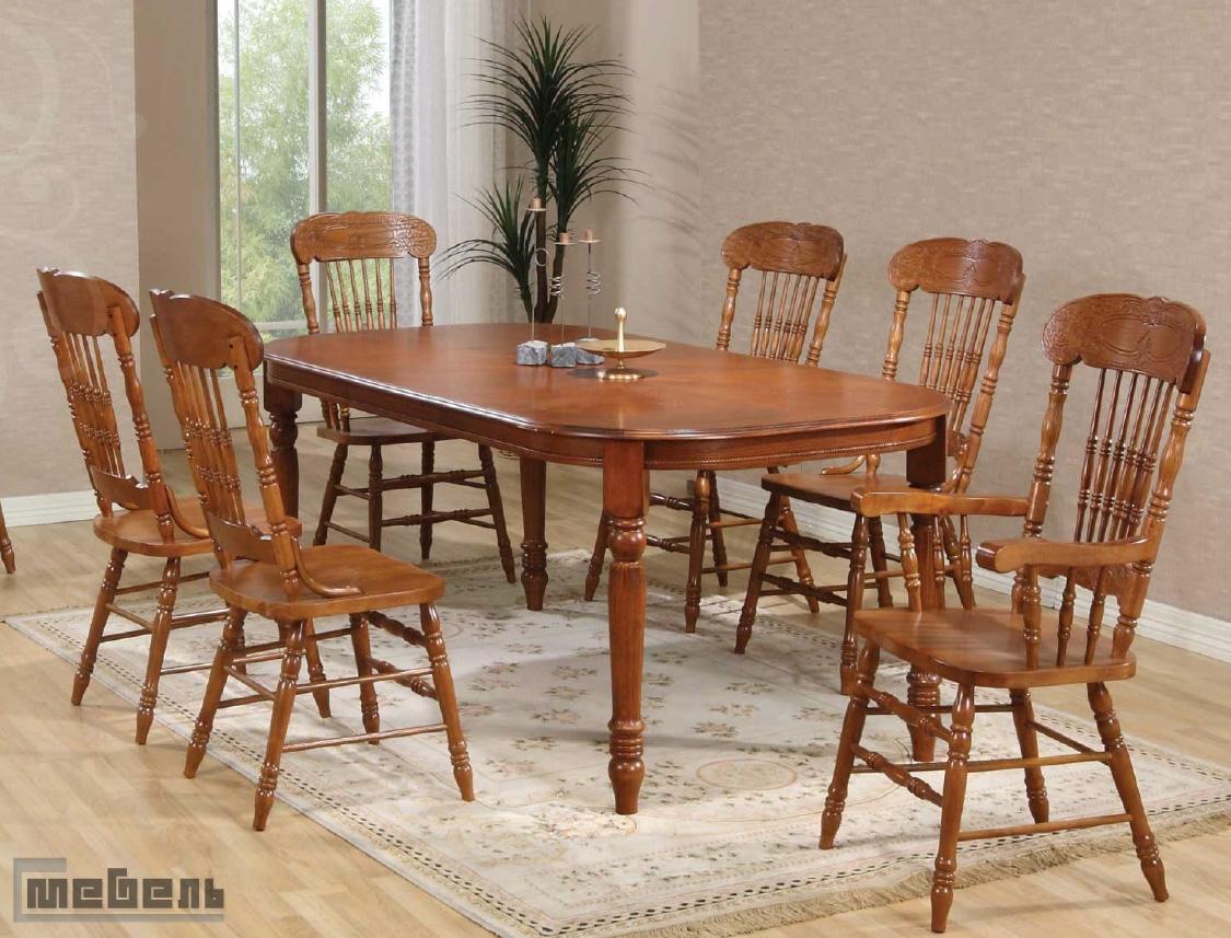 Деревянные столы и стулья фото