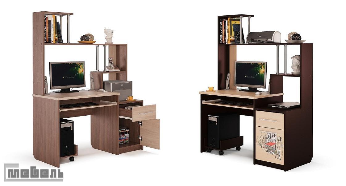 """Компьютерный стол """"монако"""" с-мебель."""