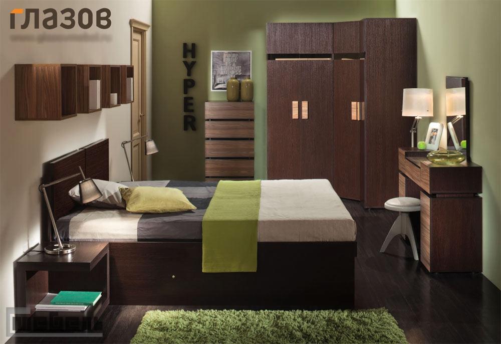 """Спальня """"Hyper"""" (Хайпер) модульная - Комплектация № 2"""
