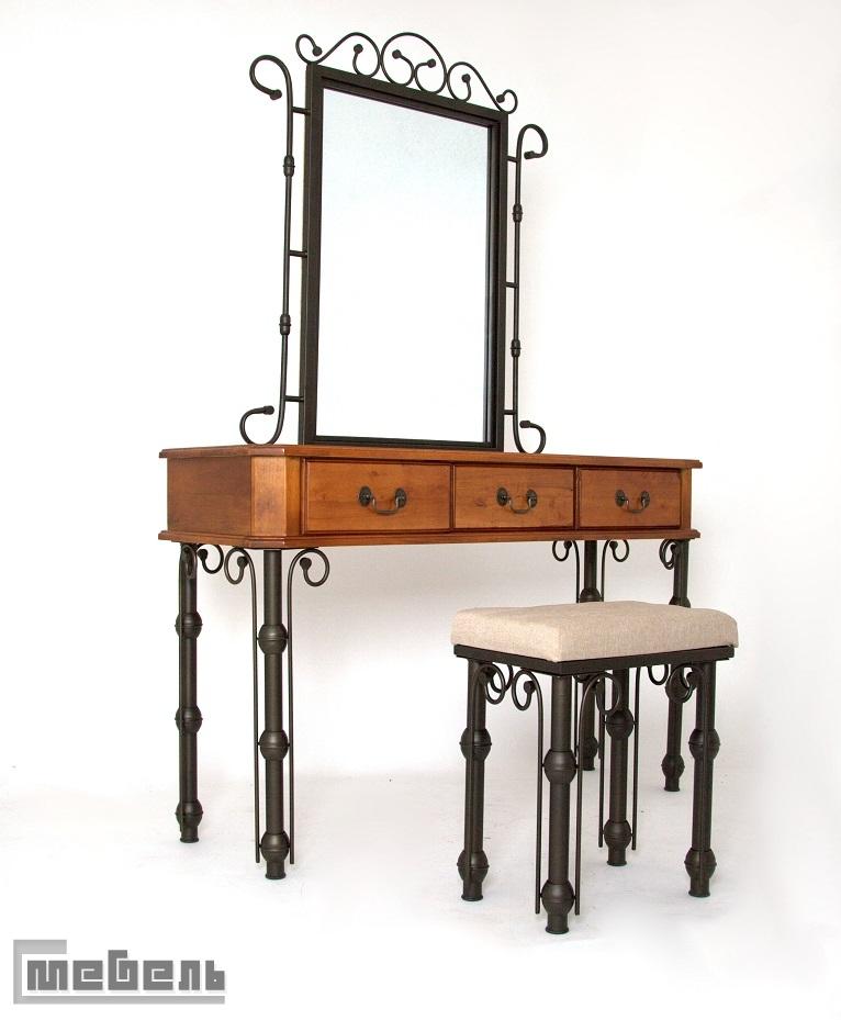 """Туалетный столик с зеркалом и пуфом """"Dynasty"""" (Династия)"""