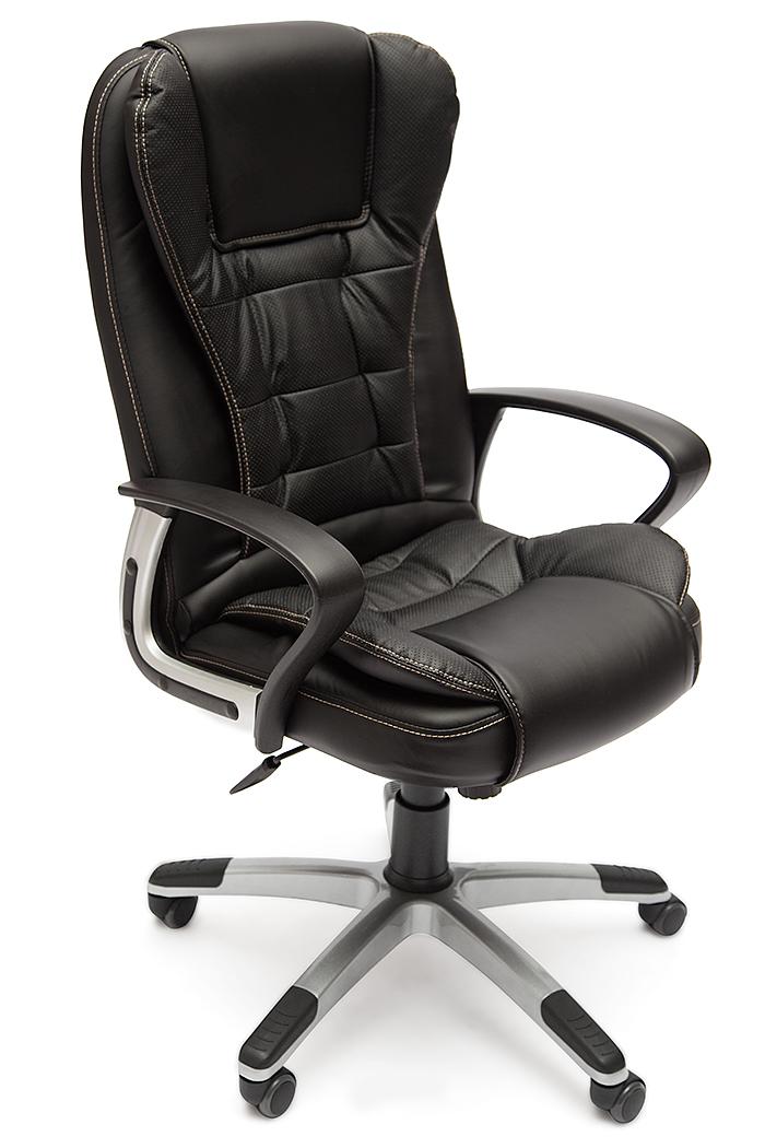 """Кресло для руководителя """"Барон"""" (BARON)  Кожзам чёрный"""