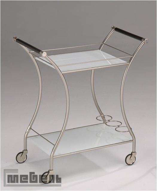 """Сервировочный столик на колесиках """"SC-5099"""" (Белое стекло)"""
