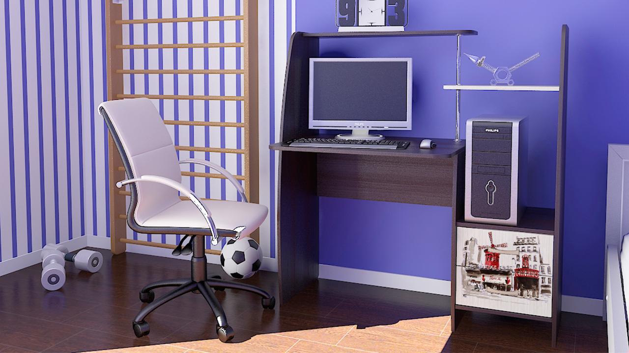 """Компьютерный стол """"школьник-стиль м"""" (венге цава - дуб молоч."""
