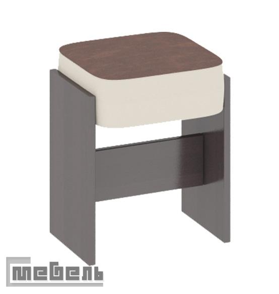 """Табурет """"Кантри Т1"""" Венге - кожзам тёмно-коричневый №725"""