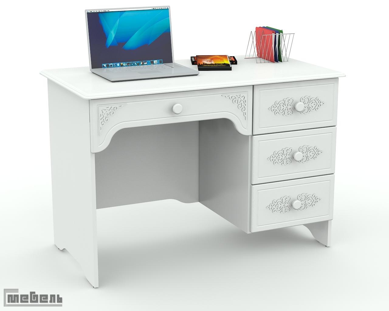 """Письменный стол ас-24.2к (левый/правый) """"ассоль"""" с-мебель."""