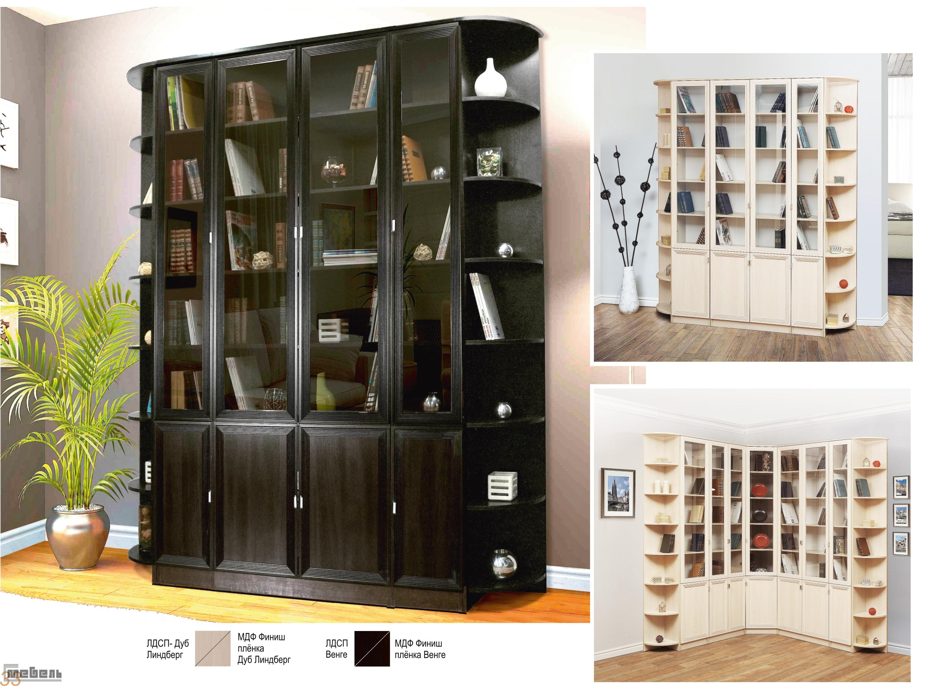 Книжные шкафы библиотека-5 купить.