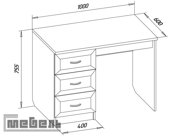 Письменный стол чертежи и