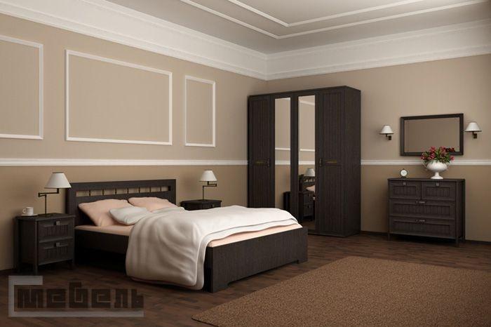 """Спальня """"Соната"""" (модульная) - Комплектация №1 (Венге)"""