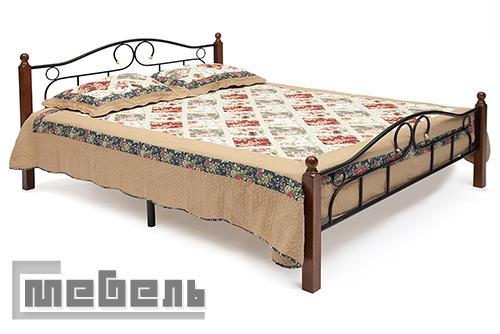 "Кровать двуспальная ""AT-808 Double Bed"" (1400 х 2000 мм.) ламели металл"