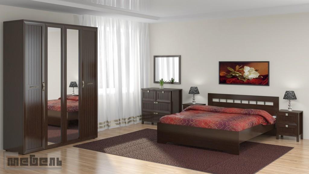 """Спальня """"Соната"""" (модульная) - Комплектация №2 (Венге)"""