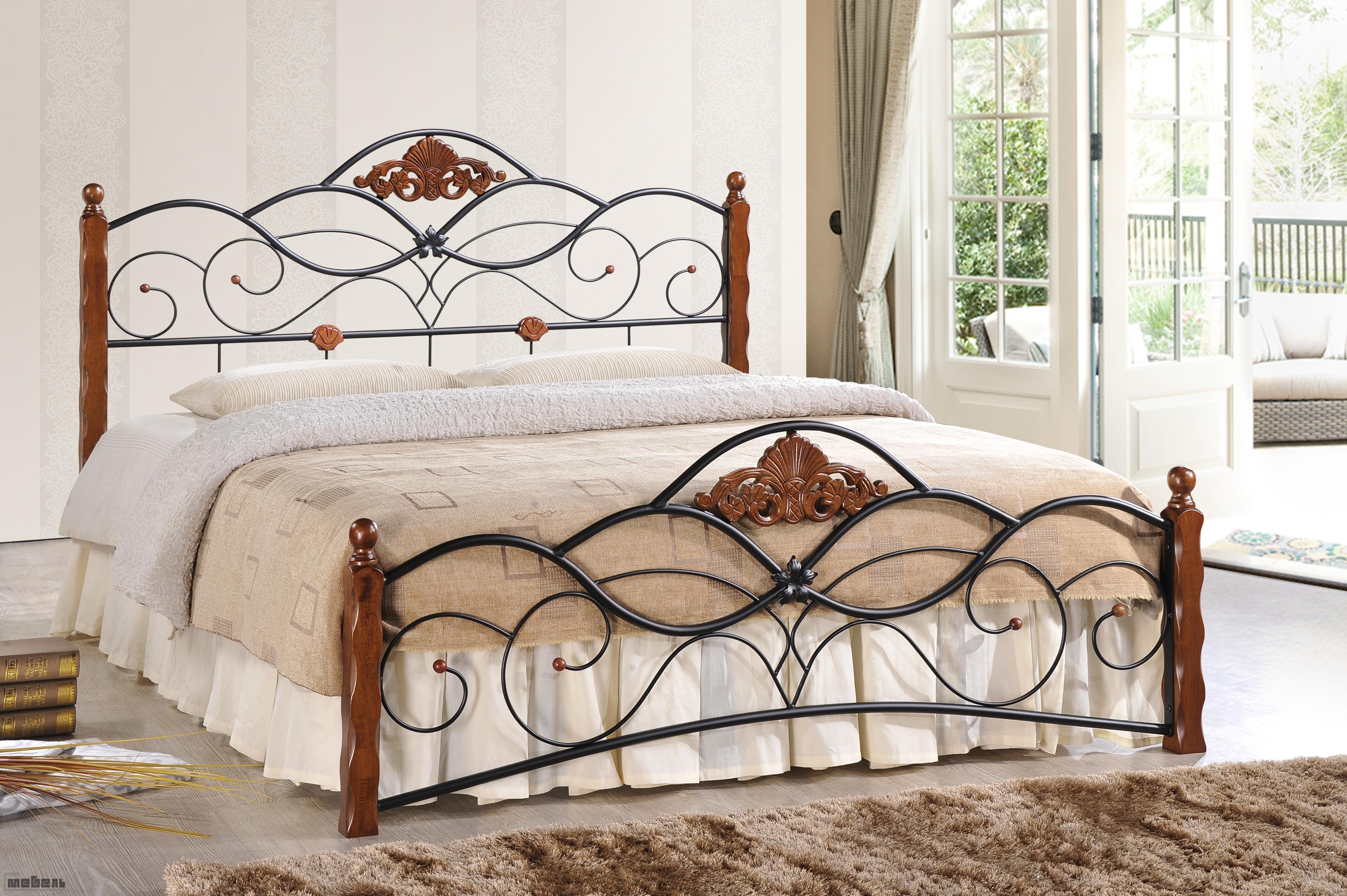 Кровати двуспальные металлические фото