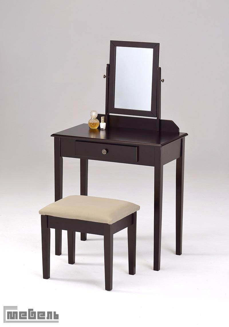 """Туалетный столик с пуфиком """"VC-0002-W"""" (Тёмный орех)"""