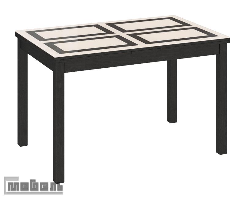 """Стол обеденный """"Диез Т11"""" С-343 Венге - Стекло матовое с рисунком"""