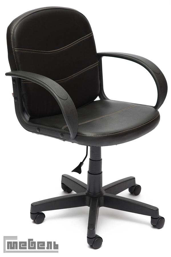 """Компьютерное кресло """"Багги"""" (Baggi) Кожзам, """"Чёрный"""""""