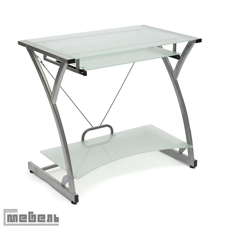"Компьютерный стол ""DARK WADER WRX - 01"" (стекло матовое, каркас серый)"