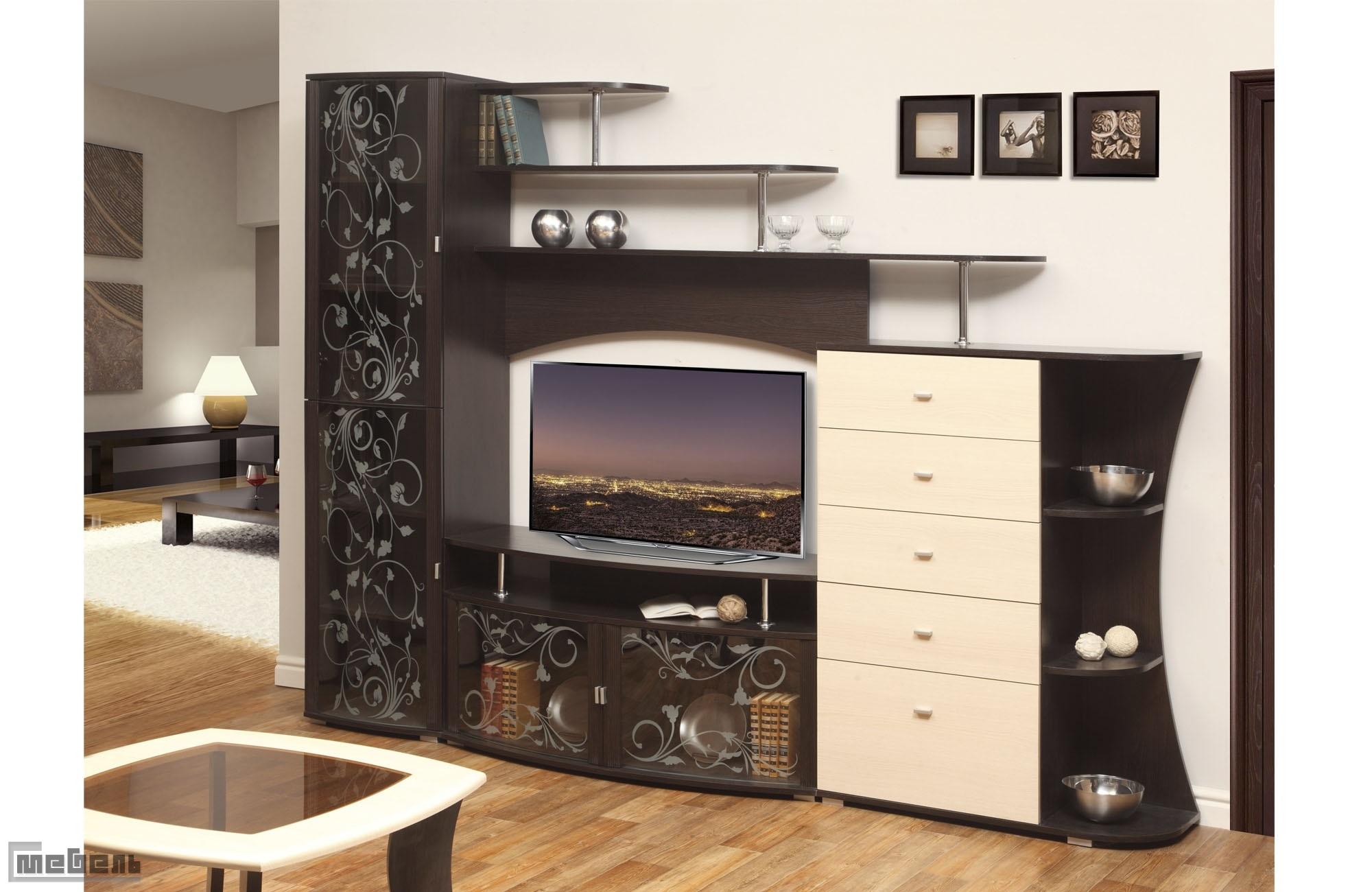 Стенка для гостиной олимп-мебель эмма со скидкой на profu14..