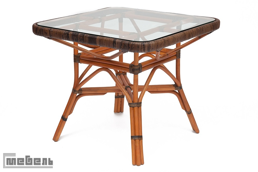 "Стол обеденный со стеклом ""Yama"""