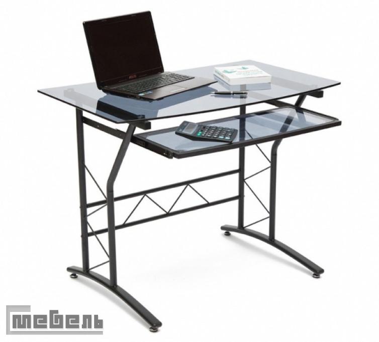 """Компьютерный стол """"ST-F-1018"""" (стекло тонированное, каркас чёрный)"""