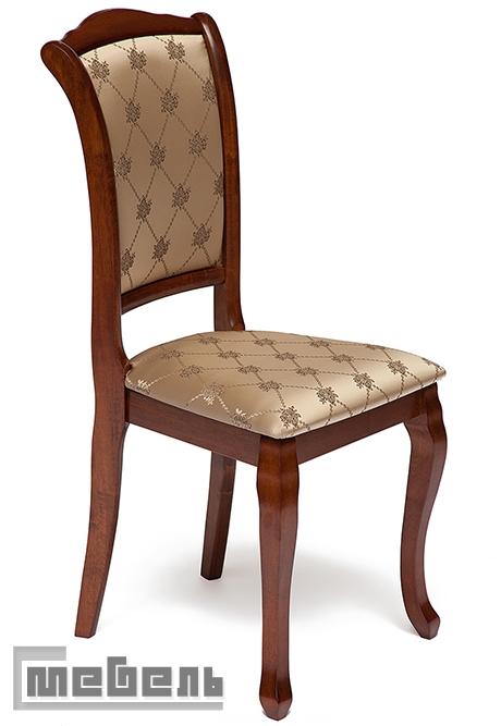 """Стул с мягким сиденьем и спинкой """"Женева"""" (Geneva) Коричневый в рыжину (Maf Brown)"""