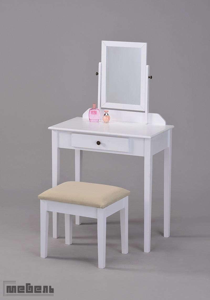 """Туалетный столик с пуфиком """"VC-0002-WT"""" (Белый)"""