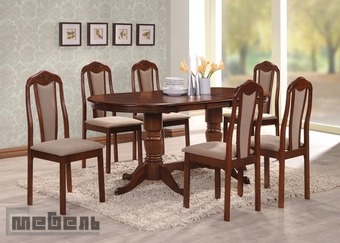 """Обеденная группа """"2051 - 302-1SF"""" (стол + 6 стульев) Шоколад"""