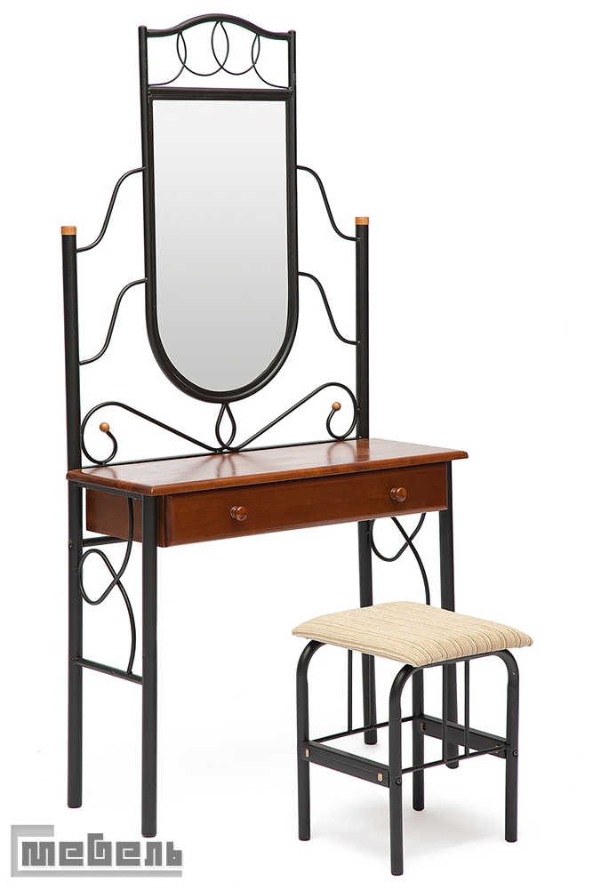 """Туалетный столик с зеркалом и пуфом """"FD-215"""" (Красный дуб)"""