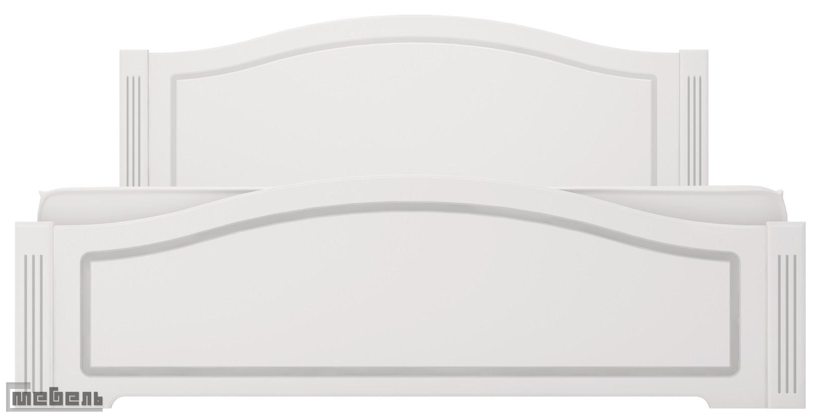 """Кровать 21 (1400 х 2000 мм.) с латами, без матраса  спальня """"Виктория"""""""