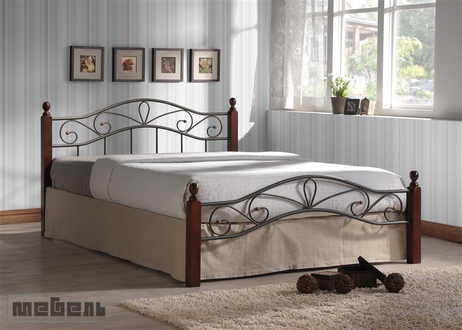 """Кровать двуспальная """"Глэдис"""" (Melis-1400 х 2000 мм.) Тёмный орех"""