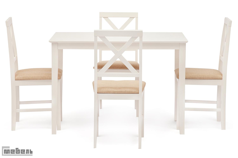 """Обеденная группа """"Hudson"""" (стол + 4 стула) цвет: Белый"""