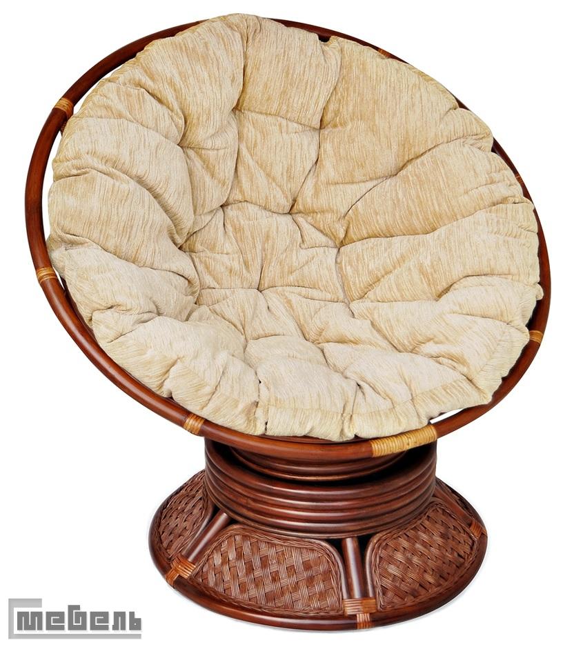 Кресло-качалка вращающееся «Андреа» (Andrea 23/01B ) с подушкой (Тёмный орех)